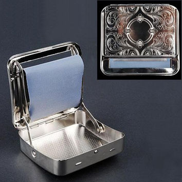 Newest Hot Sale Automatic Cigarette Tobacco weed Smoking Smoke Roller Rolling Machine Box Case Tin High Class