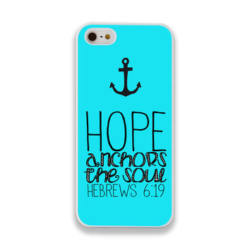 Hope Anchors the Soul Hebrew 6:19 iPhone Case - iPhone 4/4s, iPhone 5/5s/5c