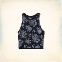 Graphic Scuba Crop Tank
