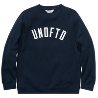 Undefeated: UNDFTD Arc Crewneck Sweater - Navy
