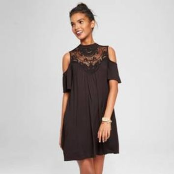 Women's Crochet Cold Shoulder Dress - 3Hearts (Juniors')