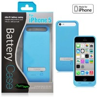 Ionic Rechargeable Extended Battery Apple iPhone 5C Case (AT&T, T-Mobile, Sprint, Verizon) (Blue)[MFI Apple certification pending]