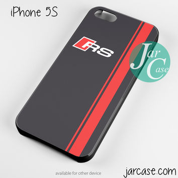 Audi RS Logo Phone case for iPhone 4/4s/5/5c/5s/6/6 plus