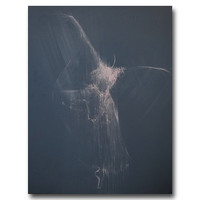 Dark grey wall art print - ballerina print of original abstract ballet painting by Yuri Pysar