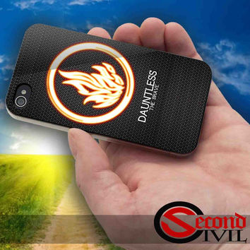Divergent Dauntless The Brave - iPhone 4/4S, 5/5S, 5C - Samsung Galaxy S3, S4 for Rubber and Hard Plastic Case