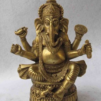 Copper Brass Ganapati Ganesh Lord God Elephant