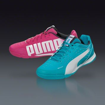 PUMA evoSPEED 1.2 Tricks Sala - Beetroot Purple/Bluebird/White Indoor Soccer Shoes