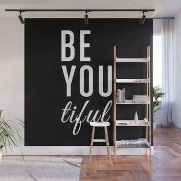 Be You tiful Wall Mural by allisone