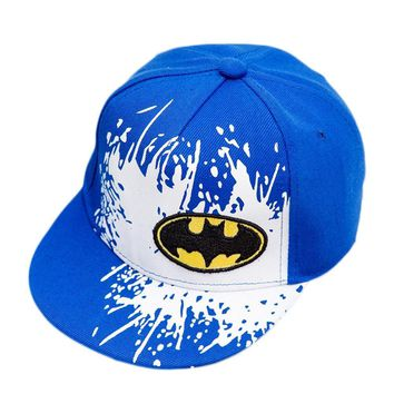 Trendy Winter Jacket 2018 new Snapback Caps Gorras Unisex Kids Hip-hop Snapback Batman Cap Children Adjustable Flat Hats 4 colors AT_92_12