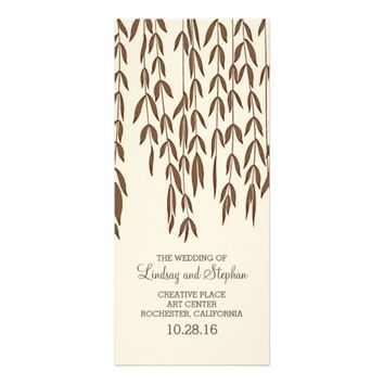 Willow Tree Branches Elegant Wedding Programs