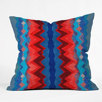 Elisabeth Fredriksson Red Sun Pattern Throw Pillow