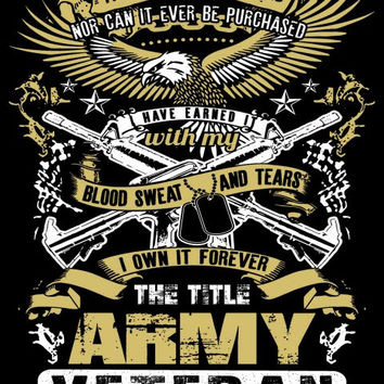 """The Title Army Veteran"" Vinyl Decal Sticker (5"" tall)"