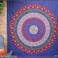 Tapestry Wall Hanging Large Yoga Boho Hippie Bohemian Indian Mandala Flowers