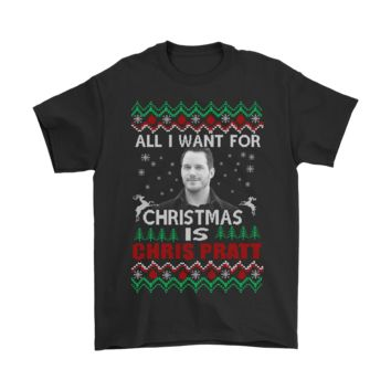 QIYIF All I Want For Christmas Is Chris Pratt Shirts