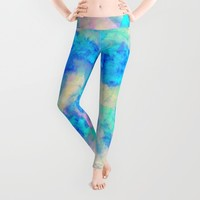 Electrify Ice Blue Leggings by Amy Sia