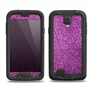 The Purple Glitter Ultra Metallic Samsung Galaxy S4 LifeProof Nuud Case Skin Set