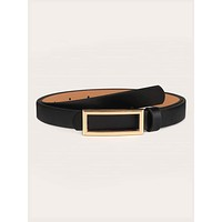 Rectangle Buckle Belt
