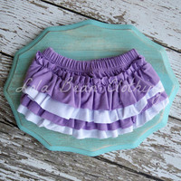Lavender & White Purple Bloomers White Bloomers Cotton Ruffle Bloomers Baby Girl Bloomers Ruffle Photography Prop 0 3 4 6 9 12 months