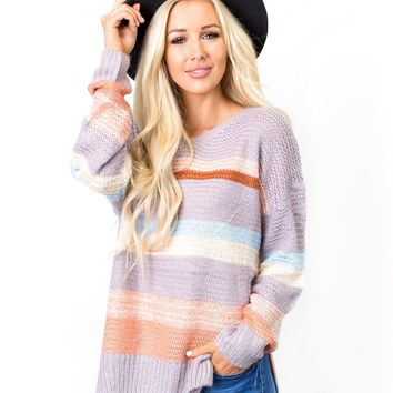 Terri Stripe Sweater