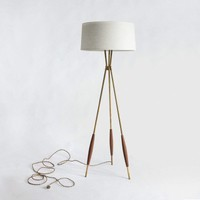 Mulberry Tripod Floor Lamp & Fabric Shade | Schoolhouse Electric & Supply Co.