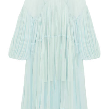 Chloé - Plissé silk-chiffon midi dress