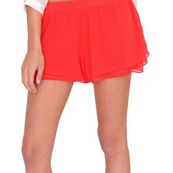 Summer Bliss Shorts Tomato Red