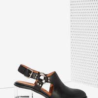 Jeffrey Campbell Borel Leather Harness Mule