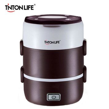 TINTON LIFE Mini Rice Cooker Two/Three Layers Multifunctional Insulation Plug-in Electric Heating Cooking Lunch Box