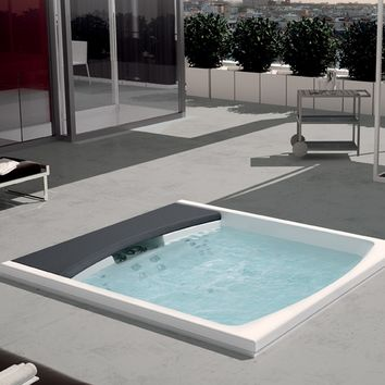 Hydromassage built-in mini pool spa HYDROSPA SEASIDE 641 Hydrospa Collection by TEUCO GUZZINI | design Talocci Design