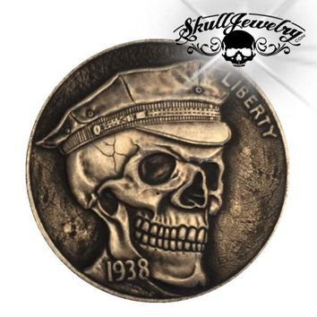 'Soldier' 1937-D 3-Legged Buffalo Hobo Nickel (m0084)