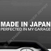 Made In Japan Vinyl Bumper Sticker Decal Sport Car Hatchback JDM Import Japan