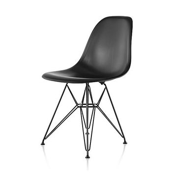 Herman Miller Eames® Molded Wood Side Chair - Wire Base