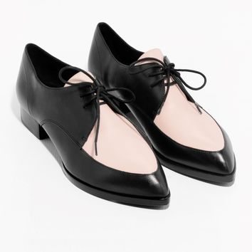 & Other Stories | Colour Blocked Leather Shoes | Light Pink
