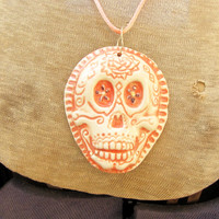 Day of The Dead  Ceramic Pendant