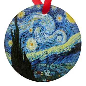 Vincent Van Gogh Starry Starry Night Porcelain Ornaments
