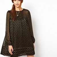 ASOS Smock Dress With Lurex Spot