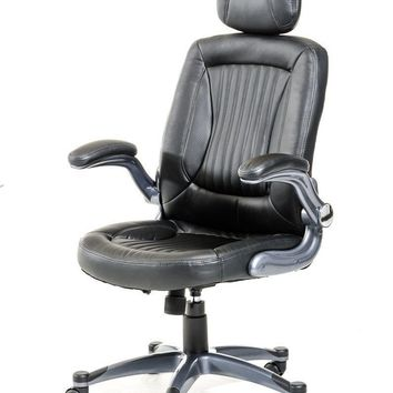 Modrest Principal Modern Black Office Chair w/ Headrest