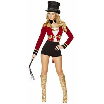 Sexy Pin Up Circus Ring Mistress Halloween Costume
