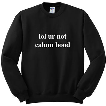 "5 Seconds of Summer 5SOS ""lol ur not calum hood""  Crewneck Sweatshirt"