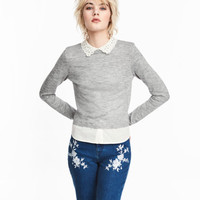 H&M Fine-knit Sweater with Collar $34.99