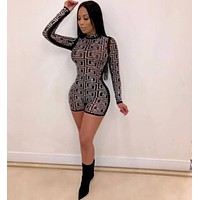 Versace Women Long Sleeve Jumpsuit