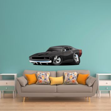 Muscle Car Cartoon 16 Charger Wall Decal