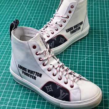 Louis Vuitton Lv White Tattoo Sneaker Boot - Best Online Sale