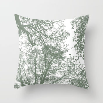 Abstract Trees Throw Pillow by ARTbyJWP
