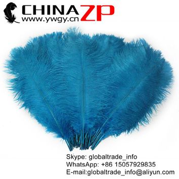 CHINAZP Feather 20inch to 22inch (50-55cm) Featured Quality Turquoise Blue Ostrich Feathers Wedding Centerpieces Decoration