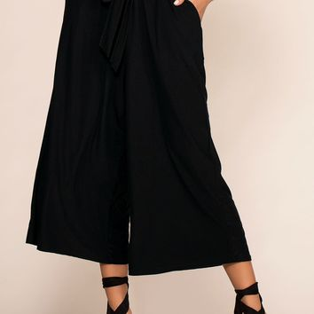 Penny In Your Pocket Culottes - Black