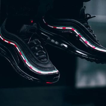 (With Box) Newest Air Max 97 OG X UNDFTD BLACK SPEED RED DS Top Quality Mens Maxes 97s Running Shoes women Size 5.5-12