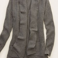 Aerie Women's Shawl Cardi (Dark Heather Grey)