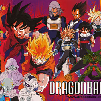 Dragon Ball Z Anime Cartoon Poster 24x36