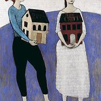 Women Carrying Houses: Brian Kershisnik: Giclee Print - Artful Home